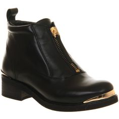 Office Machine Front Zip Ankle Boot