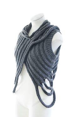 PDF Knitting Pattern - Zombie - post apocalyptic knit layer pattern