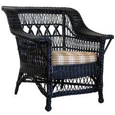 American Wicker Triple X Back Chair | 1stdibs.com