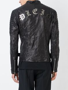 Philipp Plein 'First Tattoo' biker jacket