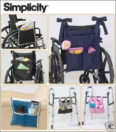 WALKER ORGANIZER PATTERN - Also For Wheelchair, Chair Arms or Bedside on Etsy, $6.99
