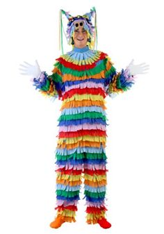 Find a Pinata Costume For Halloween. Here you'll find kids pinata costumes, adult pinata costumes, sexy pinata costumes, mexican group costumes, toddler pinata costumes and more! Candy Costumes, Cool Costumes, Adult Costumes, Costumes For Women, Costume Ideas, Teen Boy Costumes, Pinata Halloween Costume, Mexican Celebrations, Pinata Party