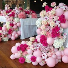 Balloons and flowers