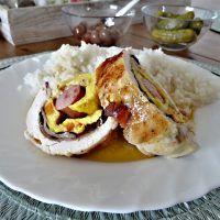Kuřecí roláda plněná vejci, anglickou slaninou a párkem Tacos, Mexican, Chicken, Ethnic Recipes, Food, Essen, Meals, Yemek, Mexicans