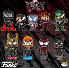 New Venom funko pops Funko Pop Marvel, Marvel Dc, Venom Funko Pop, Marvel Venom, Marvel Heroes, Venom Spiderman, Disney Marvel, Funko Spiderman, Spiderman Pop