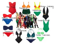 """""""DC Universe Comics Swimsuits"""" by amarie104 ❤ liked on Polyvore featuring Esther Williams, Gottex, DC Shoes, Vero Moda, MOEVA, Melissa Odabash, American Eagle Outfitters, Miraclesuit, Norma Kamali and Agent Provocateur"""