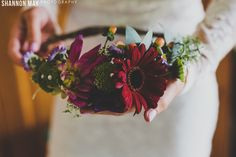 Colourful flower crown. Perfect for the BOHO Bride.