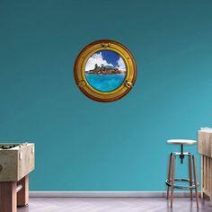 Fathead Tropical Island Porthole Wall Decal - 69-00600