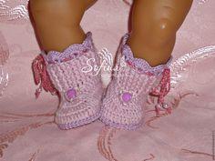 Купить Пинетки сапожки для кукол Беби Бон - комбинированный, для кукол, для куклы, обувь для кукол