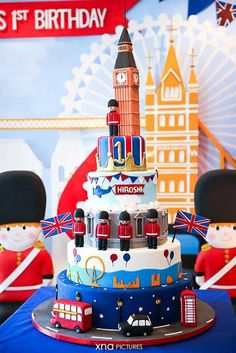 A British Themed 1st Birthday Perfect For Royal Little Prince By Fairy Floss Party And Favours London Cakelondon