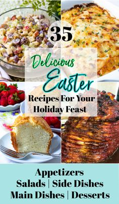 Whether you're serving brunch, lunch, or dinner, this collection of 35 scrumptious recipes has what you need for a festive spring meal! They are all easy to make and are sure to make Easter special. Spring Recipes, Easter Recipes, Easter Ideas, French Toast Bread Pudding, Banana Pudding Trifle, My Favorite Food, Favorite Recipes, Southern Pound Cake, Twice Baked Sweet Potatoes