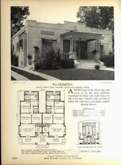 Sears Sears Modern Homes 1924 Monterey Houses By Mail