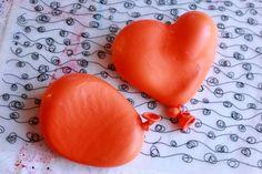 Plaster Balloon Heart Sculptures 01