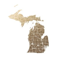 Michigan Map by GeekInk Design for Minted