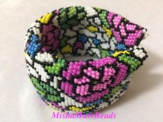 Bracelet Stained Glass Rose от MishaMurrBeads на Etsy
