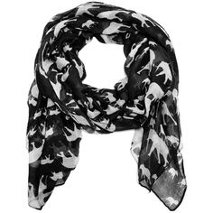 Mama and baby elephant scarf in black and white (€14) ❤ liked on Polyvore featuring accessories, scarves, elephant shawl, elephant scarves, black and white scarves, viscose scarves and black and white shawl
