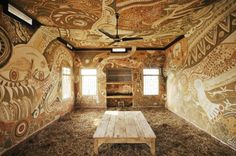 Artist Creates Fantastical Murals Made of Mud on School Walls to Bring Art to a Remote Village in India   Inhabitots