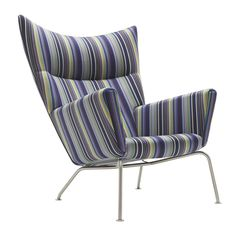 Paul Smith upholsters classic furniture designs by Hans J. Wegner in his signature stripes Polywood Adirondack Chairs, Wayfair Living Room Chairs, Wing Chair, Classic Furniture, Danish Design, Paul Smith, Stripes Design, Home Furnishings, Furniture Design