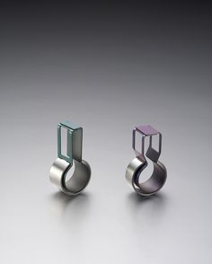 Talking great #design: amazing #jewelry design...LEE, JIN KYUNG  결합 I-1, 1-2, 2006  TITANIUM, 925 SILVER