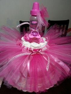 Diaper cake super pink