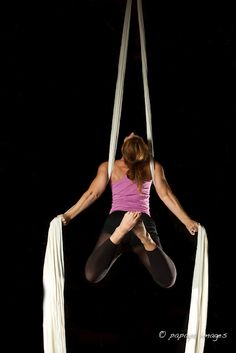 Rasamaya Flying Aerial Yoga. I've always wanted to try this...