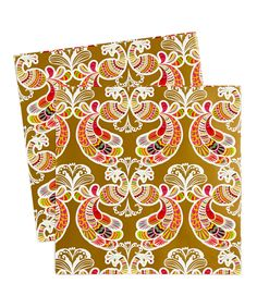 Peacock Gold Gift Wrap Paper 20X30, Set of six - Zulily $10