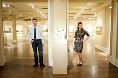 Marietta Museum of Art Engagement Pictures by The Studio B Photography http://www.mariettacobbartmuseum.org