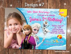 Items similar to Frozen - Anna Elsa Olaf in Summer - CUSTOM Pool Swim Birthday Party Photo Invitations - Printable on Etsy Swim Birthday Parties, 5th Birthday Party Ideas, Birthday Party Invitations, 2nd Birthday, Olaf Party, Frozen Birthday Party, Frozen Party, Olaf Summer, Summer Pool