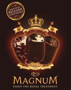 oh how I love thee. especially Magnum Minis! Ice Cream Varieties, Magnum Ice Cream, Bad Room Ideas, Ice Cream Design, Midnight Snacks, Belgian Chocolate, Tent Cards, Truffles, Product Launch