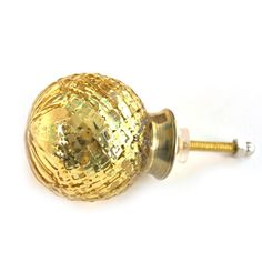 Handmade ceramic solid golden color knob online available on our website at discounted price. Ceramic Knobs, Golden Color, Handmade Ceramic, Light Bulb, Ceramics, Website, Home Decor, Ceramica, Pottery