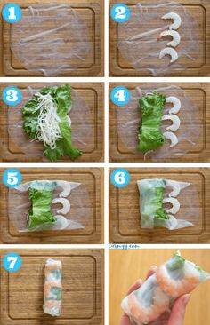 These fresh and healthy Vietnamese Rice Paper Shrimp Rolls are so easy to make! … These fresh and healthy Vietnamese Rice Paper Shrimp Rolls are so easy to make! They're accompanied by my go-to creamy peanut sauce. Shrimp Recipes, Rice Recipes, Easy Healthy Recipes, Healthy Snacks, Rice Paper Recipes, Sushi Roll Recipes, Meal Recipes, Easy Meals, Dinner Recipes