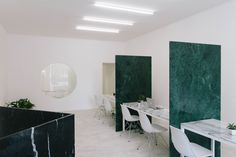 Real Estate Agency in Portugal by Fala Atelier   http://www.yellowtrace.com.au/fala-atelier-real-estate-agency-marble-partitions/