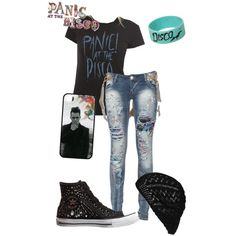 panic at the disco emperor's new clothes lyrics | fashion look from June 2014 featuring destructed jeans, flat ...