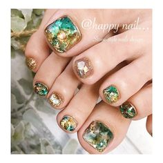 100 new ideas of fashionable nail design in page 61 100 new ideas of fashionable nail design in page 61 Pedicure Nail Art, Pedicure Designs, Toe Nail Designs, Toe Nail Art, Pretty Toe Nails, Cute Toe Nails, Diy Nails, Swag Nails, Emerald Nails