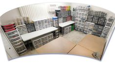 Serious Lego collection!  Finished LEGO room by Pepa Quin, via Flickr