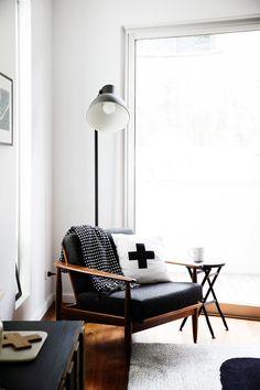 Reading nook with Ikea 'Hektar' floor lamp