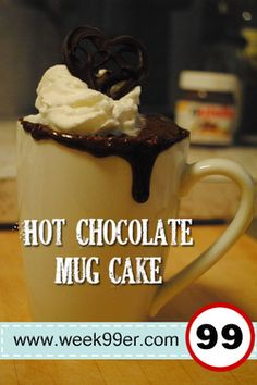 Need a fix for a cake and don't want to make a bunch? Make this delicious single serving Hot Chocolate Mug Cake!