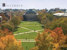 University of Illinois Quad in Champaign, IL