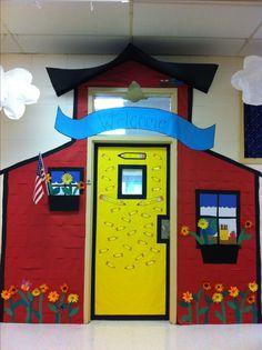 Schoolhouse door classroom door