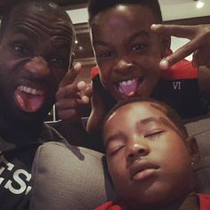 (Photo by kingjames) LeBron James and his sons. #nbafamily #kids #family