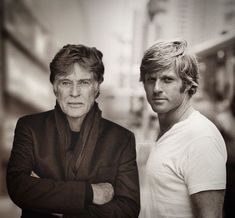 Young and old Robert Redford hanging out. Hollywood Stars, Old Hollywood, Best Movie Actors, Throwback Pictures, Celebrities Then And Now, Young Old, Stars Then And Now, Richard Gere, Actrices Hollywood