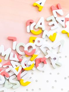 DIY Paint Dipped Alphabet Magnets Tutorial