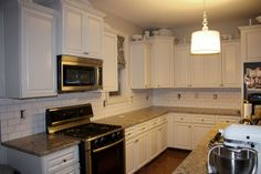White backslash would look awesome with dark cabinets