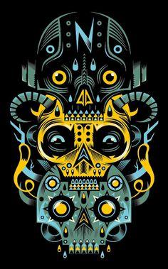 Illustration #8 ( special symmetry ) by Seb NIARK1 FERAUT, via Behance, looks cool !