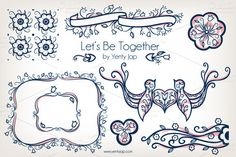 Let's Be Together Vector Wedding by Yenty Jap on @creativemarket