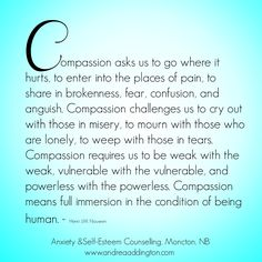 Compassion  Henri J.M. Nouwen quote