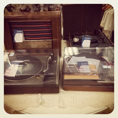 Record players and vintage radios