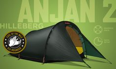 Hilleberg Anjan 2 man backpacking tent - spacious and durable. Winner of the Cool of the Wild All Rounder Award.