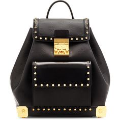 MCM Berlin Rucksack ($1,885) ❤ liked on Polyvore featuring bags, backpacks, mcm, mcm backpack, rucksack bag, travel bag and mcm bags