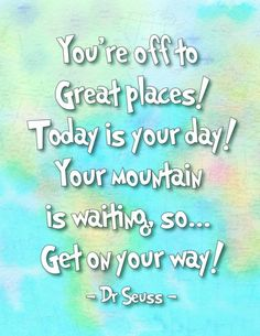 How fun are these Oh the Places You'll Go Dr. Seuss Printables? Perfect for kids spaces!